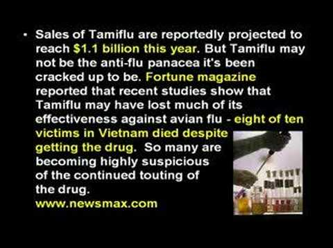 Avian Flu: Tamiflu Worthless For Avian Bird Flu?-Part 5