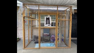 """DIY """"Catio""""  Outdoor cat patio! (Made it all by myself!)"""