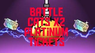 Battle cats Double Platinum Ticket Opening!
