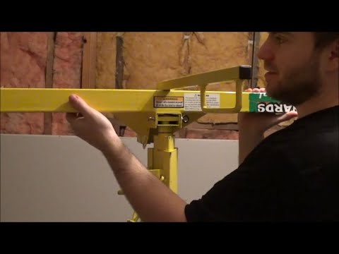 Assembly Of A Menards Drywall Panel Lift Rental And Review Mud Boss Sp 016 742 Youtube