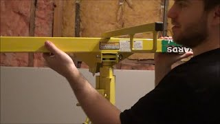 Assembly of a Menards Drywall Panel Lift Rental and Review (Mud Boss SP-016-742)