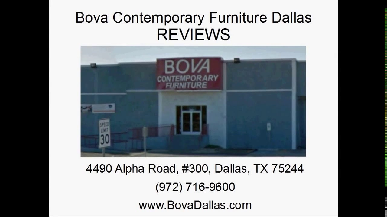 BOVA Contemporary Furniture Dallas TX   REVIEWS   Dallas Furniture Store  Reviews   YouTube