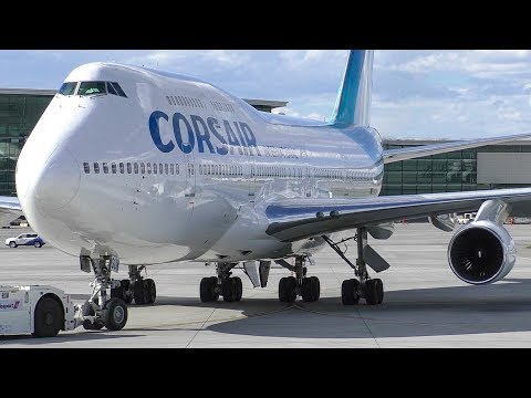 Corsair International Boeing 747-400 Arrival at Calgary Airport