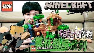 【LEGO Minecraft】 叢林樹屋 樂高21125 The Jungle Tree Hous  武士代購包裹開箱【ToysReview】【蔡阿墨ink】