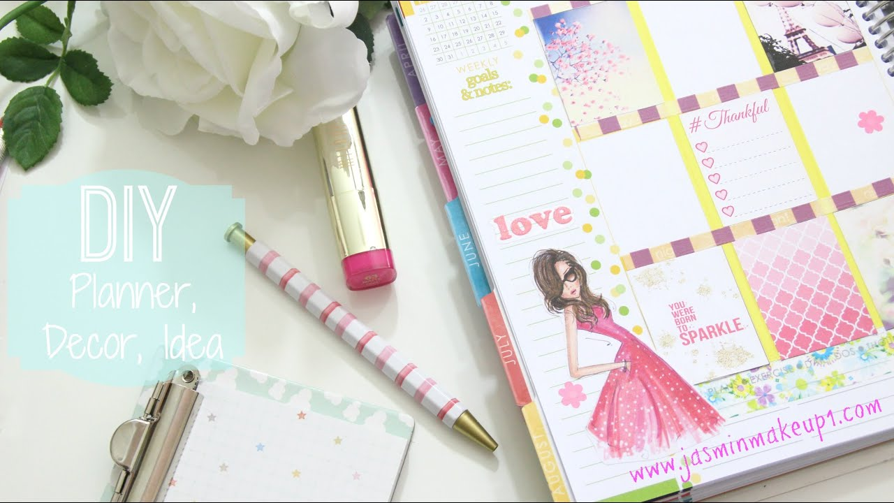 Diy decora tu agenda stickers ideas youtube - Como decorar una agenda ...
