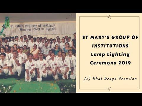 #LampLightingCeremony St Mary's Institute Of Nursing & Mary Matha School Of Nursing
