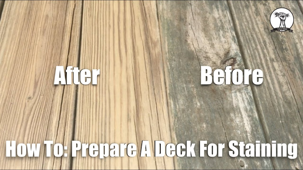 How to prepare your deck for stain youtube baanklon Images