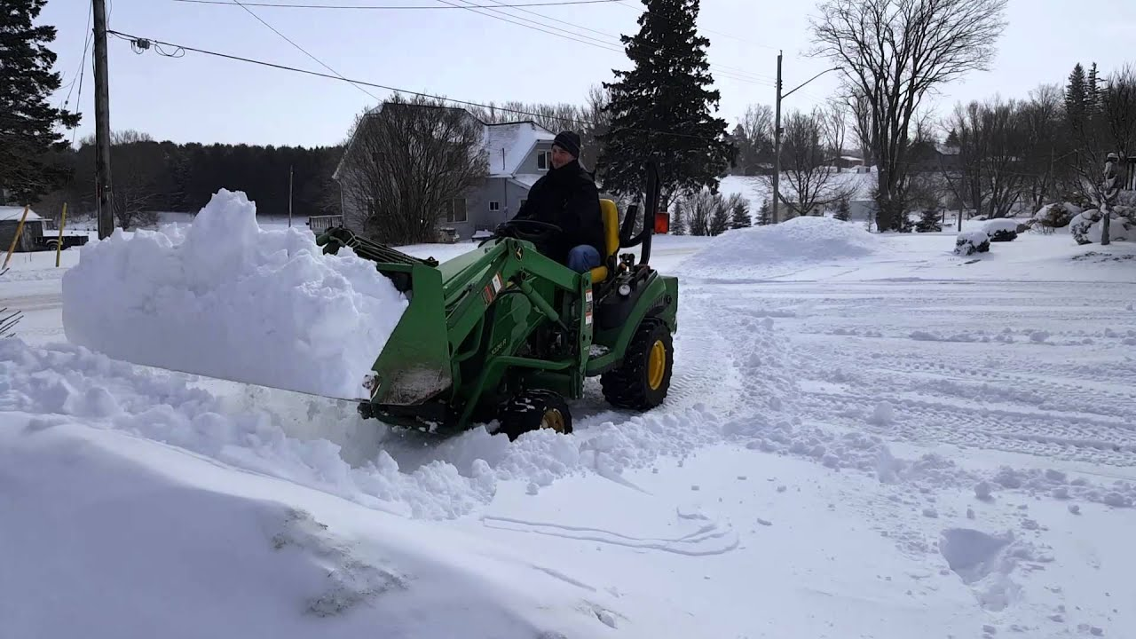 John Deere 1026r Loader Snow Plow : John deere r youtube autos post
