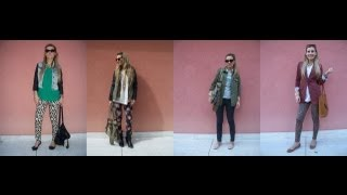 How To Wear Prints In Fall (dalmatian Dog, Floral & Leopard Print) 4 Outfits Styled!