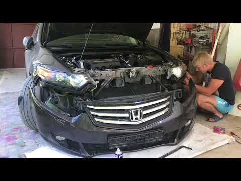 Как снять бампер на Honda Accord 8
