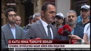 Beyoğlu Belediyesi 5 Katlı Bina Tahliye Edildi Ulusal Kanal