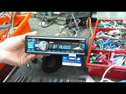 ALPINE CDE-133BT POWER UP WITH A2DP BLUETOOTH AND APPLE IPOD RADIO