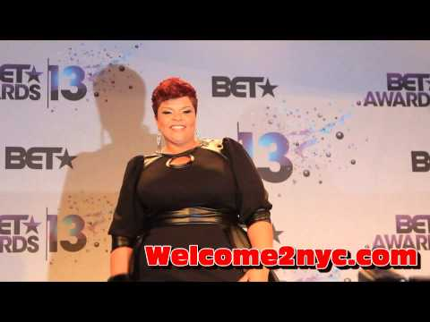 Tamela Mann Interview BET Awards 2013 RIGHT After Singing Take Me To The King