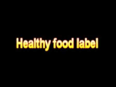 what is the definition of healthy food label medical