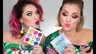 KOBO   Over the Rainbow  ZMALO - testuje z przyjaciółką! Jedna Paleta dwa makijaże !