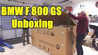 BMW F800GS unboxing. Распаковка и сборка мотоцикла BMW F800GS