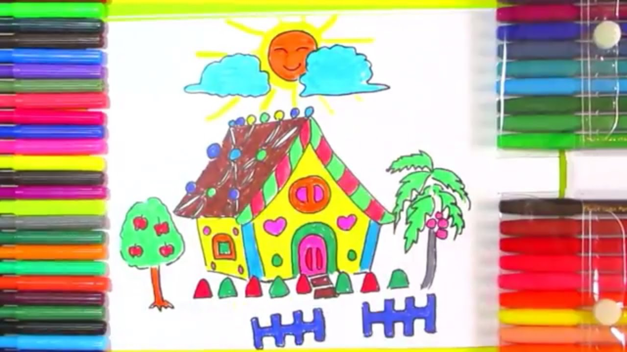 how to draw a gingerbread house step by step