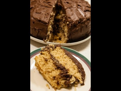 Maple Cake with Chocolate Fudge Frosting (Low salt!)