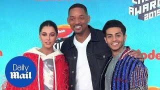 Aladdin cast 'never had a friend' like Will Smith at KCA's