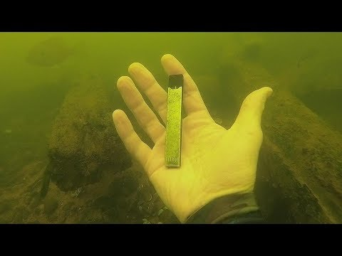 I Found a JUUL Underwater in the River While Scuba Diving! River Treasure