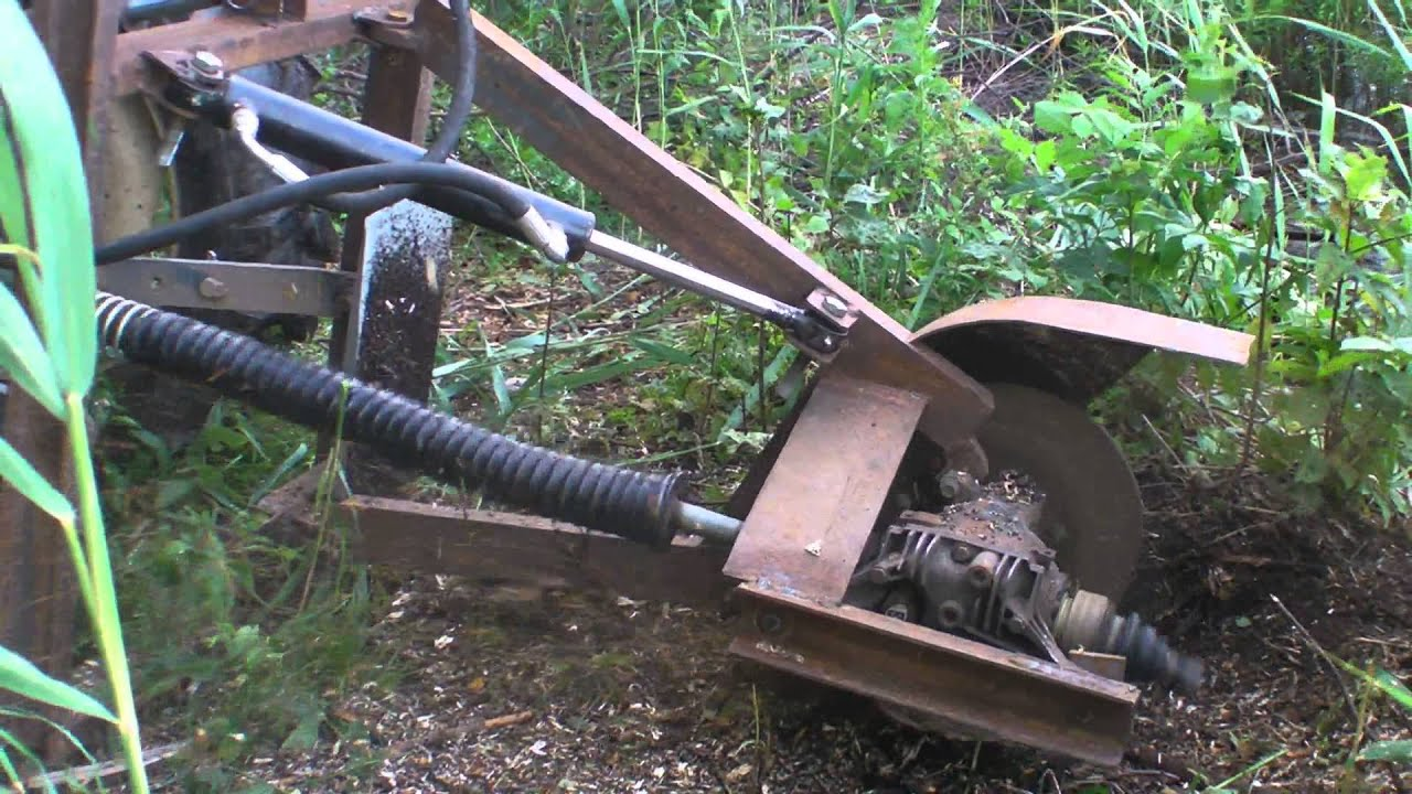 Tractor Pto Stump Grinder Home Made Youtube