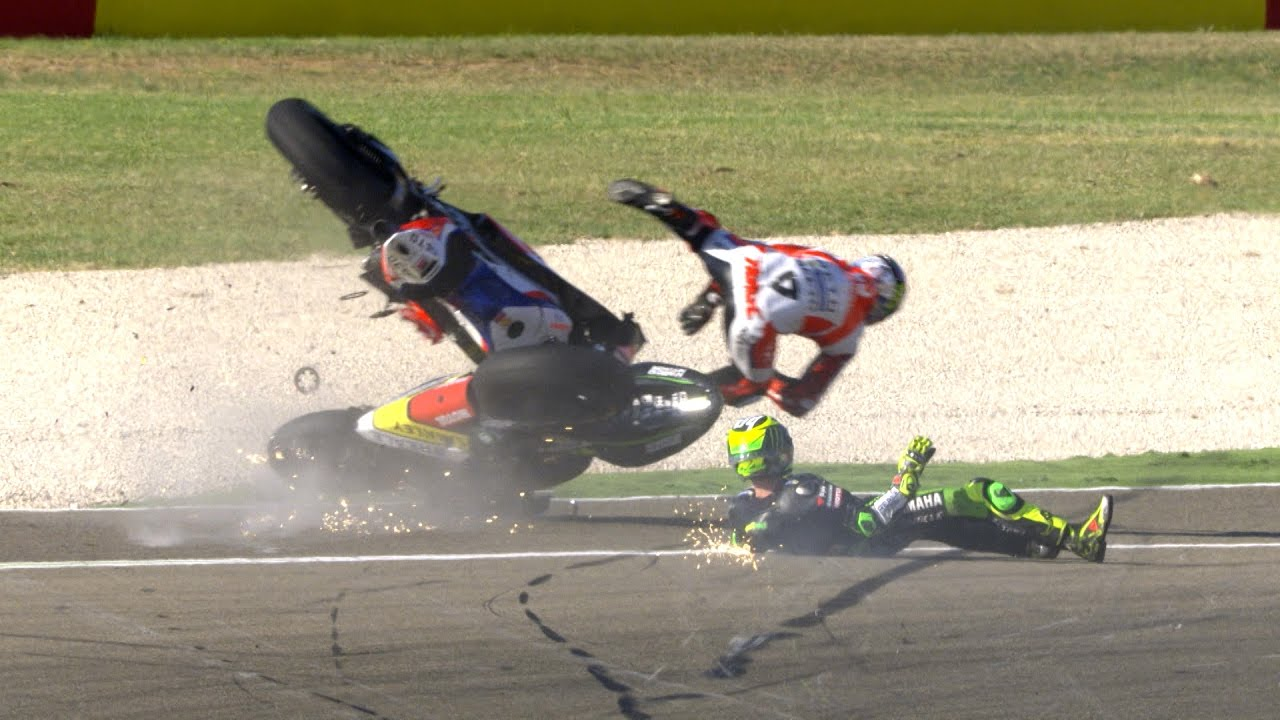 Most spectacular crashes and wobbles of the year - YouTube