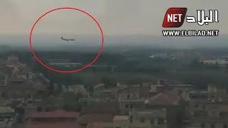 شاهدوا .. لحظة وصول طائرة الرئيس بوتفليقة إلى مطار بوفاريك العسكري