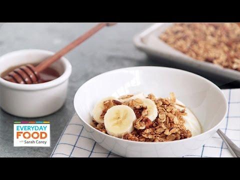 Crunchy Honey-Pecan Granola Everyday Food with Sarah Carey