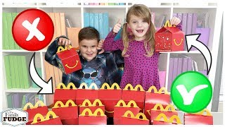 Don't Choose the Wrong McDonald's Happy Meal LUNCH Challenge
