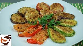 Verdure gratinate al forno: zucchine, pomodori, melanzane, peperoni e cipolle - Ricette vegetariane