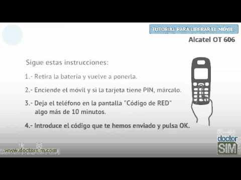 Liberar móvil Alcatel OT 606   Desbloquear celular Alcatel OT 606