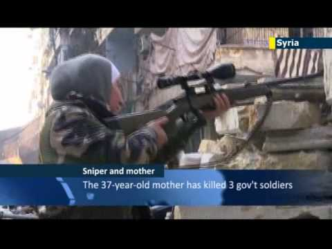 Free Syrian Army deploys female sniper: former English teacher talks about her role in war