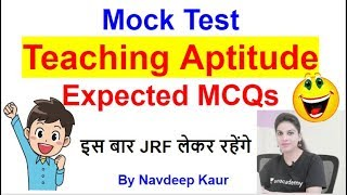Mock Test Teaching Aptitude Expected MCQ