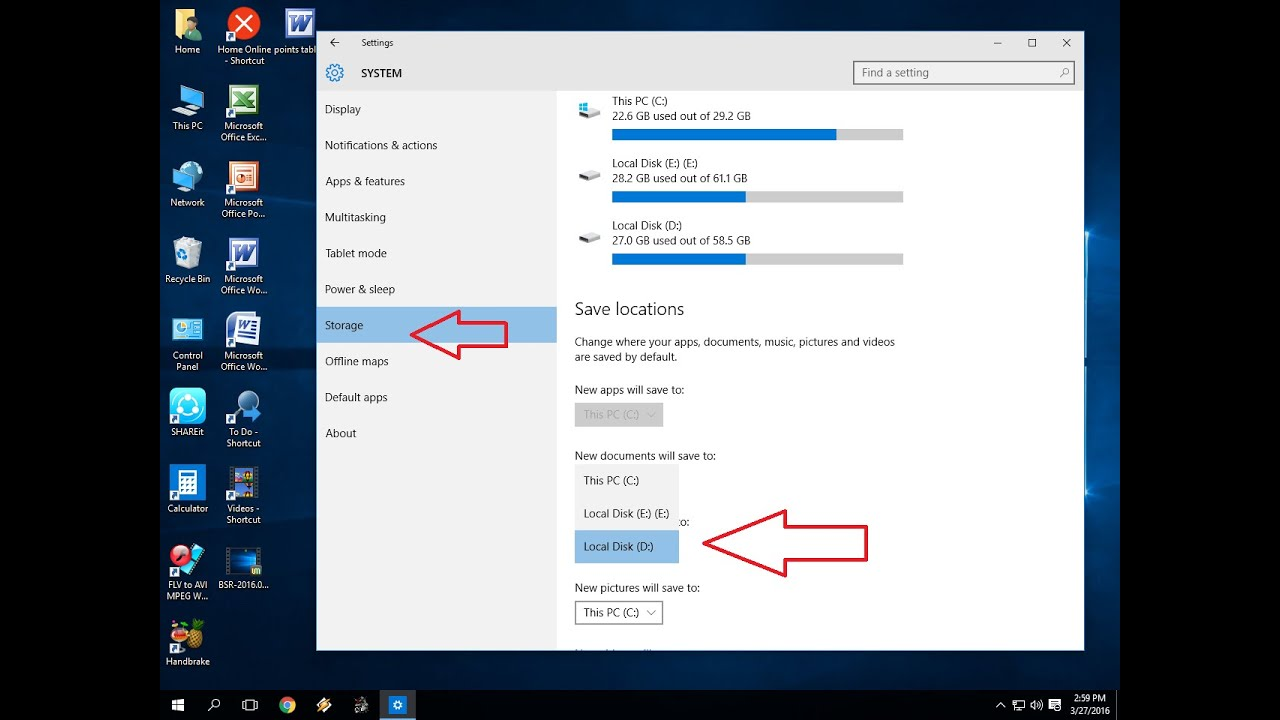 How to Change Default Save Location in Windows 10 PC
