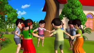 Ringa Ringa Roses   3D Animation English Nursery Rhyme Songs for Children