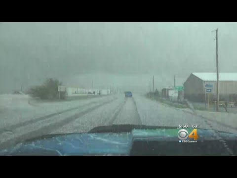 Hail Hits Eastern Colorado