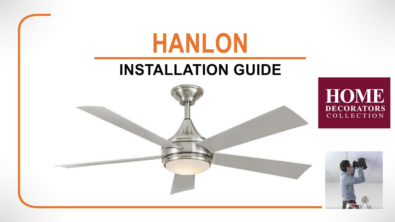 Hanlon ceiling fan installation guide youtube hanlon ceiling fan installation guide aloadofball Choice Image