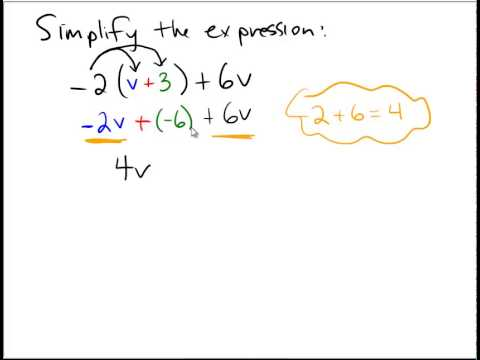 Simplifying linear expressions - YouTube