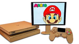 Working Cardboard Sony PS4 Game Console - Stop Motion