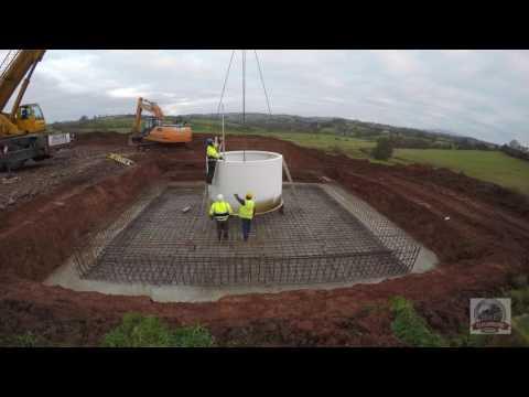 Cloughbane  Farm 4k Wind Turbine Install Part 1