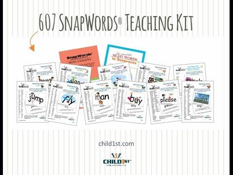 607 SnapWords Teaching Cards
