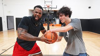 1v1 Basketball Against Skilled One Handed Hooper!