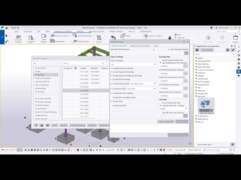 XML files for Production Control in Tekla EPM
