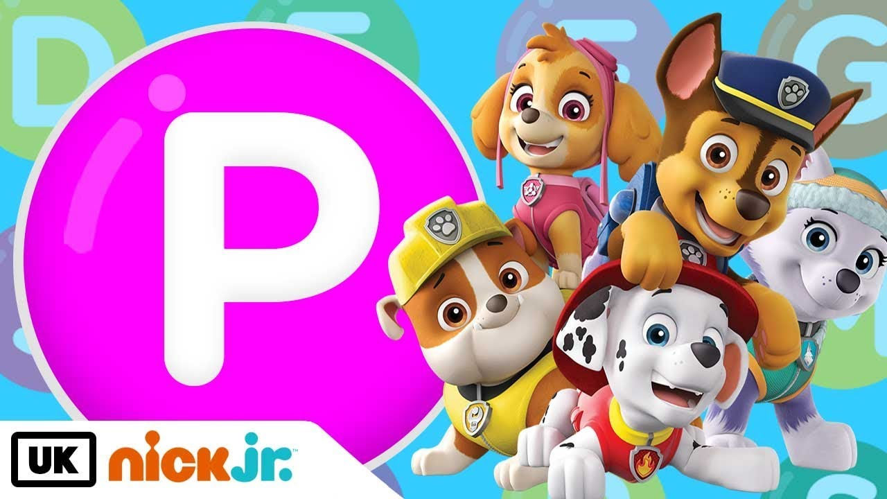 words beginning with p featuring paw patrol nick jr uk youtube