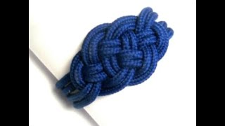 Como hacer una pulsera con nudo marinero. DIY. How to make a nautical knot bracelet