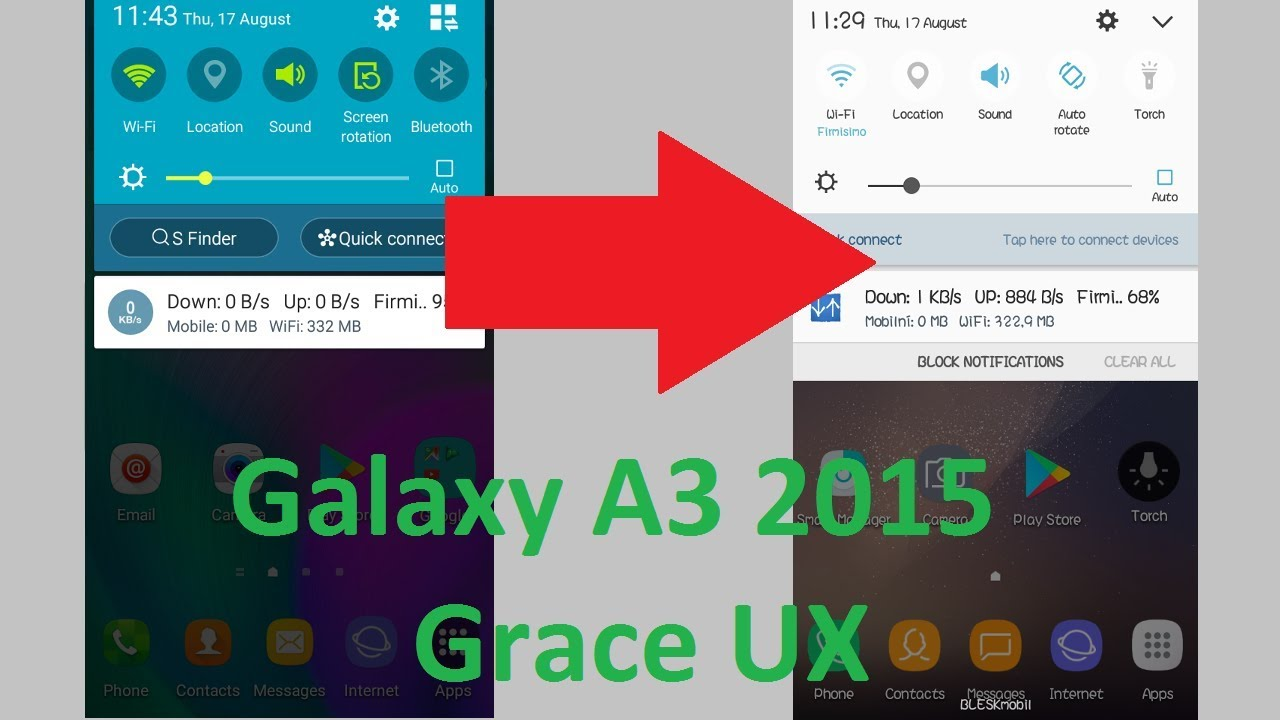 Galaxy A3 2015 (A300FU/H) - Grace UX System UI (No Root) by PsychoTechCZ