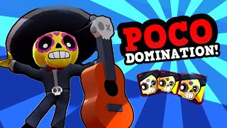 High Level Poco Gameplay u0026 Strategy :: BRAWL STARS