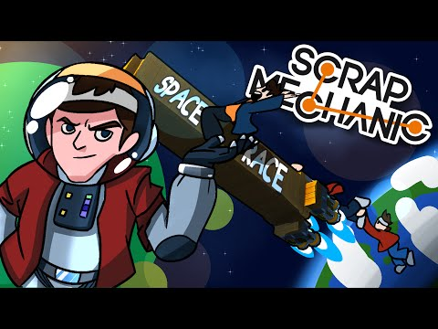 Scrap Mechanic Funny Moments with Friends! - THE SPACE RACE!