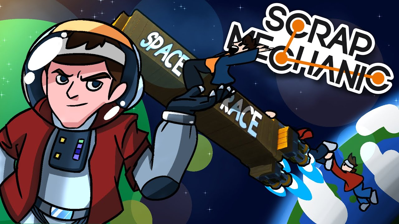 Download Scrap Mechanic Funny Moments with Friends! - THE SPACE RACE!