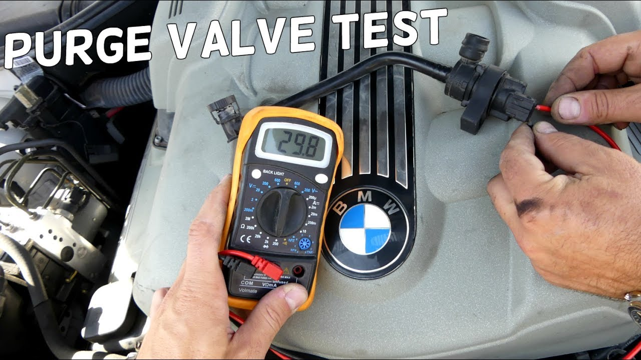 HOW TO TEST BMW PURGE VALVE TANK BREATHER VALVE